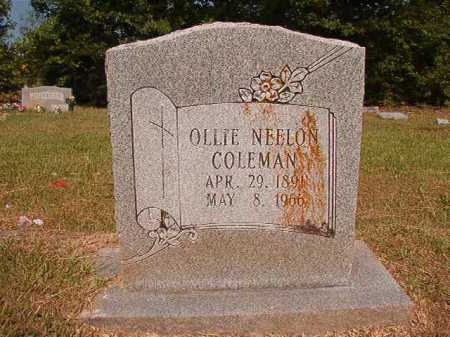 NEELON COLEMAN, OLLIE - Dallas County, Arkansas | OLLIE NEELON COLEMAN - Arkansas Gravestone Photos