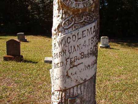 COLEMAN, R W - Dallas County, Arkansas | R W COLEMAN - Arkansas Gravestone Photos