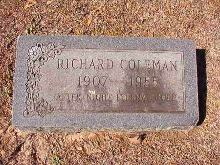 COLEMAN, RICHARD - Dallas County, Arkansas | RICHARD COLEMAN - Arkansas Gravestone Photos