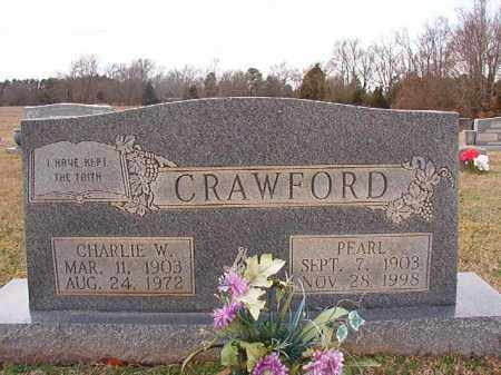 CRAWFORD, CHARLIE W - Dallas County, Arkansas | CHARLIE W CRAWFORD - Arkansas Gravestone Photos