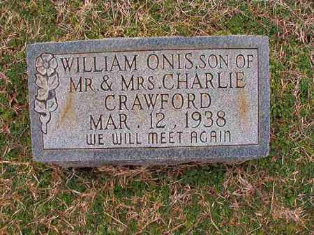 CRAWFORD, WILLIAM ONIS - Dallas County, Arkansas | WILLIAM ONIS CRAWFORD - Arkansas Gravestone Photos