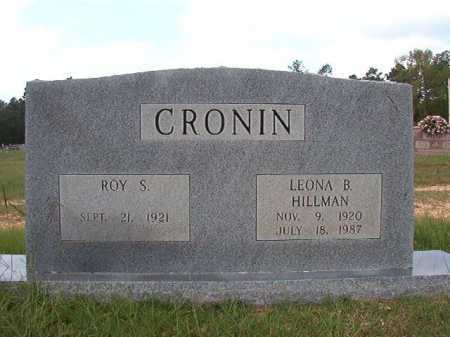 HILLMAN CRONIN, LEONA B - Dallas County, Arkansas | LEONA B HILLMAN CRONIN - Arkansas Gravestone Photos