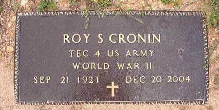 CRONIN (VETERAN WWII), ROY S - Dallas County, Arkansas | ROY S CRONIN (VETERAN WWII) - Arkansas Gravestone Photos