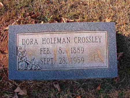 HOLEMAN CROSSLEY, DORA - Dallas County, Arkansas | DORA HOLEMAN CROSSLEY - Arkansas Gravestone Photos