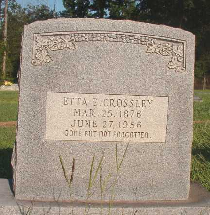CROSSLEY, ETTA E - Dallas County, Arkansas | ETTA E CROSSLEY - Arkansas Gravestone Photos