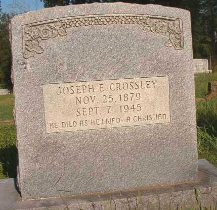 CROSSLEY, JOSEPH E - Dallas County, Arkansas | JOSEPH E CROSSLEY - Arkansas Gravestone Photos