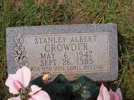 CROWDER, STANLEY ALBERT - Dallas County, Arkansas | STANLEY ALBERT CROWDER - Arkansas Gravestone Photos