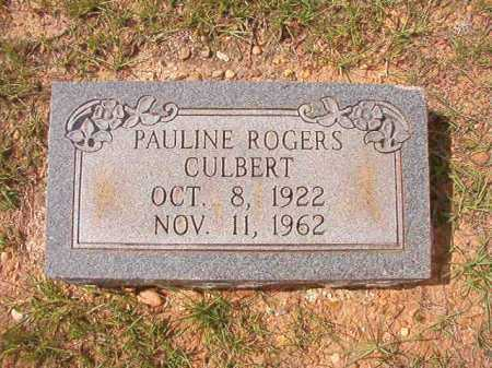 ROGERS CULBERT, PAULINE - Dallas County, Arkansas | PAULINE ROGERS CULBERT - Arkansas Gravestone Photos