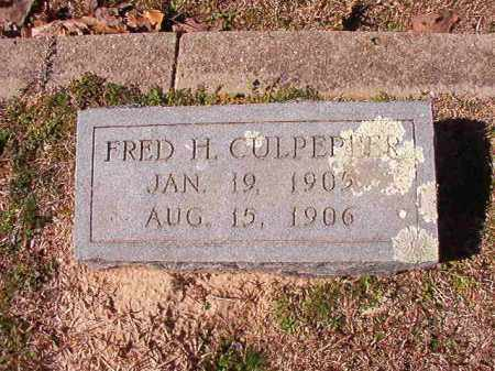 CULPEPPER, FRED H - Dallas County, Arkansas | FRED H CULPEPPER - Arkansas Gravestone Photos
