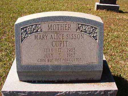 CUPIT, MARY ALICE - Dallas County, Arkansas | MARY ALICE CUPIT - Arkansas Gravestone Photos