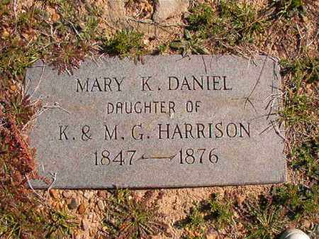 HARRISON DANIEL, MARY K - Dallas County, Arkansas | MARY K HARRISON DANIEL - Arkansas Gravestone Photos