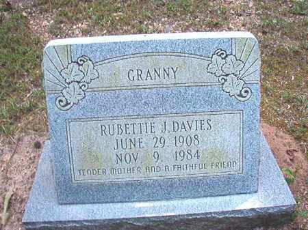 DAVIES, RUBETTIE J - Dallas County, Arkansas | RUBETTIE J DAVIES - Arkansas Gravestone Photos