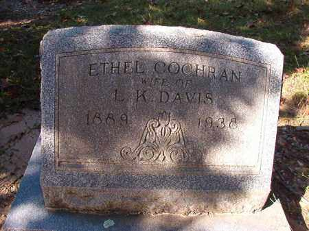 COCHRAN DAVIS, ETHEL - Dallas County, Arkansas | ETHEL COCHRAN DAVIS - Arkansas Gravestone Photos