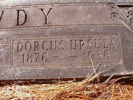 DAWDY, DORCUS URSULA - Dallas County, Arkansas | DORCUS URSULA DAWDY - Arkansas Gravestone Photos