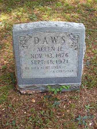 DAWS, ALLEN H - Dallas County, Arkansas | ALLEN H DAWS - Arkansas Gravestone Photos