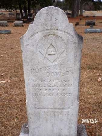 DAWSON, RUFUS V - Dallas County, Arkansas | RUFUS V DAWSON - Arkansas Gravestone Photos
