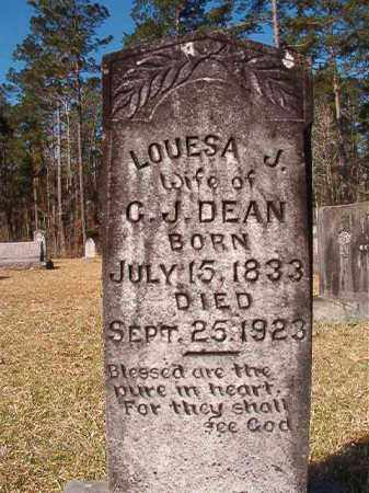 DEAN, LOUESA J - Dallas County, Arkansas | LOUESA J DEAN - Arkansas Gravestone Photos
