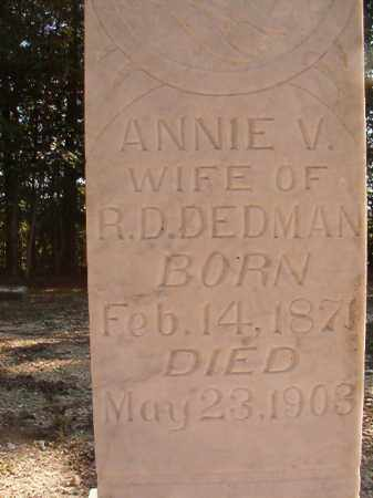 DEDMAN, ANNIE V - Dallas County, Arkansas | ANNIE V DEDMAN - Arkansas Gravestone Photos