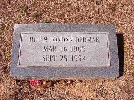 JORDAN DEDMAN, HELEN - Dallas County, Arkansas | HELEN JORDAN DEDMAN - Arkansas Gravestone Photos