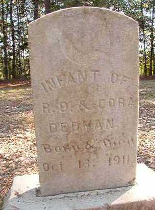 DEDMAN, INFANT - Dallas County, Arkansas | INFANT DEDMAN - Arkansas Gravestone Photos