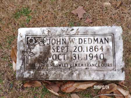 DEDMAN, JOHN W - Dallas County, Arkansas | JOHN W DEDMAN - Arkansas Gravestone Photos
