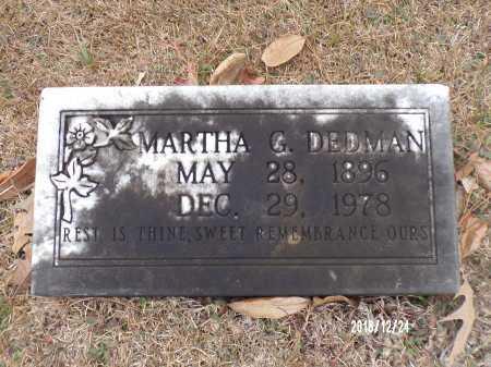 DEDMAN, MARTHA G - Dallas County, Arkansas | MARTHA G DEDMAN - Arkansas Gravestone Photos