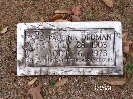 DEDMAN, PAULINE - Dallas County, Arkansas | PAULINE DEDMAN - Arkansas Gravestone Photos