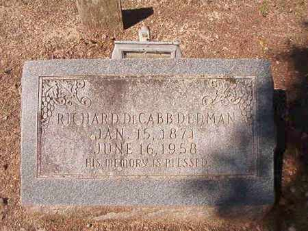 DEDMAN, RICHARD DECABB - Dallas County, Arkansas | RICHARD DECABB DEDMAN - Arkansas Gravestone Photos