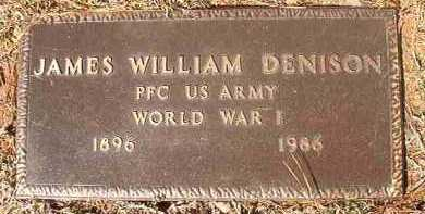 DENISON (VETERAN WWI), JAMES WILLIAM - Dallas County, Arkansas | JAMES WILLIAM DENISON (VETERAN WWI) - Arkansas Gravestone Photos