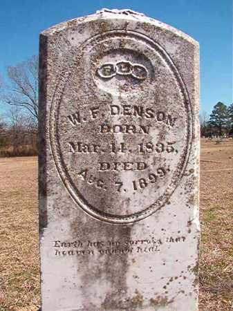 DENSON, W F - Dallas County, Arkansas | W F DENSON - Arkansas Gravestone Photos