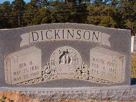 POSEY DICKINSON, MATTIE - Dallas County, Arkansas | MATTIE POSEY DICKINSON - Arkansas Gravestone Photos