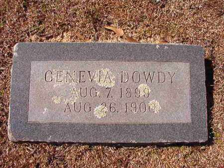 DOWDY, GENEVIA - Dallas County, Arkansas | GENEVIA DOWDY - Arkansas Gravestone Photos