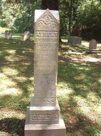 DUNLAP, A F - Dallas County, Arkansas | A F DUNLAP - Arkansas Gravestone Photos