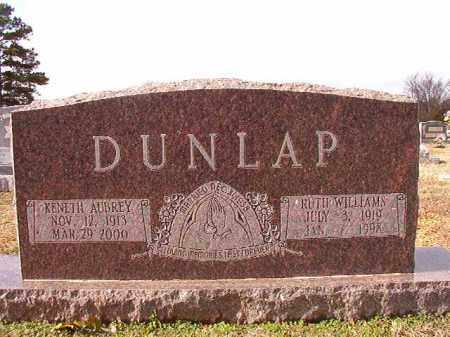 WILLIAMS DUNLAP, RUTH - Dallas County, Arkansas | RUTH WILLIAMS DUNLAP - Arkansas Gravestone Photos