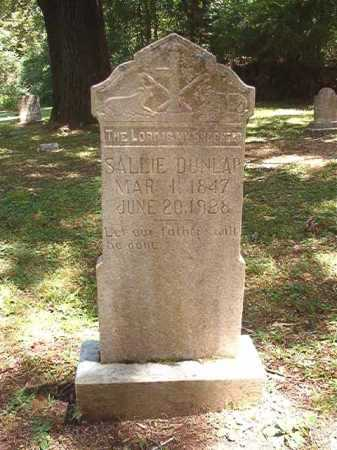 DUNLAP, SALLIE - Dallas County, Arkansas | SALLIE DUNLAP - Arkansas Gravestone Photos