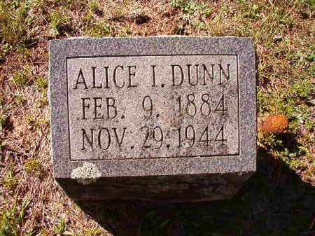 DUNN, ALICE I - Dallas County, Arkansas | ALICE I DUNN - Arkansas Gravestone Photos