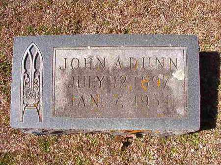 DUNN, JOHN A - Dallas County, Arkansas | JOHN A DUNN - Arkansas Gravestone Photos