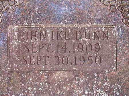 DUNN, JOHN IKE - Dallas County, Arkansas   JOHN IKE DUNN - Arkansas Gravestone Photos