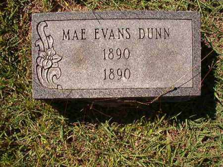 DUNN, MAE EVANS - Dallas County, Arkansas | MAE EVANS DUNN - Arkansas Gravestone Photos