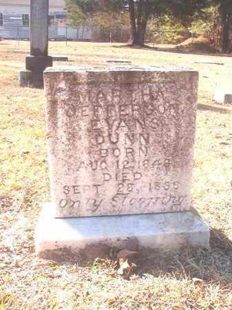 EVANS DUNN, MARTHA JEFFERSON - Dallas County, Arkansas | MARTHA JEFFERSON EVANS DUNN - Arkansas Gravestone Photos