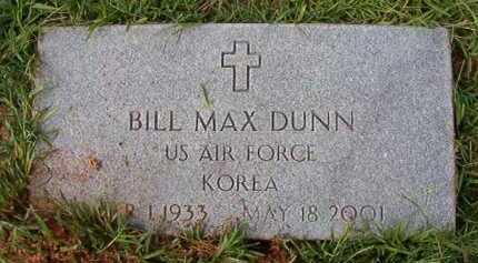 DUNN (VETERAN KOR), BILL MAX - Dallas County, Arkansas | BILL MAX DUNN (VETERAN KOR) - Arkansas Gravestone Photos