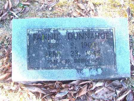 DUNNAHOE, FANNIE - Dallas County, Arkansas | FANNIE DUNNAHOE - Arkansas Gravestone Photos
