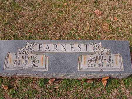EARNEST, W RUFUS - Dallas County, Arkansas | W RUFUS EARNEST - Arkansas Gravestone Photos