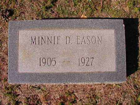 EASON, MINNIE D - Dallas County, Arkansas | MINNIE D EASON - Arkansas Gravestone Photos