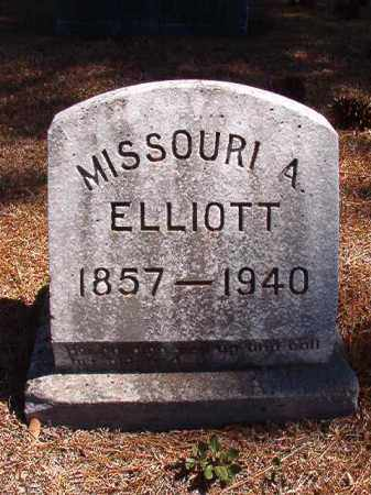 ELLIOTT, MISSOURI A - Dallas County, Arkansas | MISSOURI A ELLIOTT - Arkansas Gravestone Photos