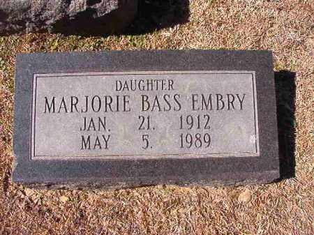EMBRY, MARJORIE - Dallas County, Arkansas | MARJORIE EMBRY - Arkansas Gravestone Photos