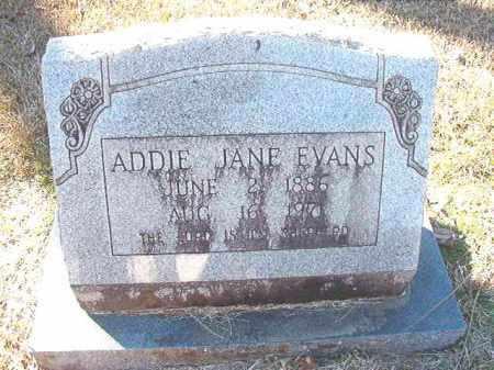 EVANS, ADDIE JANE - Dallas County, Arkansas | ADDIE JANE EVANS - Arkansas Gravestone Photos
