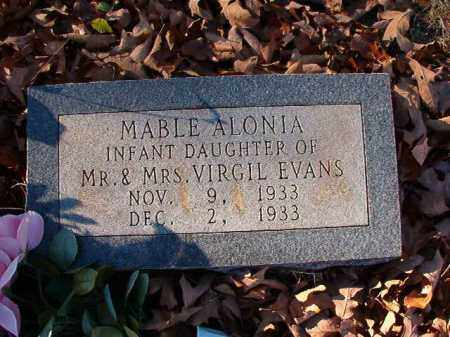EVANS, MABLE ALONIA - Dallas County, Arkansas | MABLE ALONIA EVANS - Arkansas Gravestone Photos