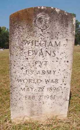 EVANS (VETERAN WWI), WILLIAM - Dallas County, Arkansas | WILLIAM EVANS (VETERAN WWI) - Arkansas Gravestone Photos