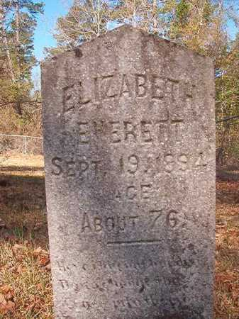 EVERETT, ELIZABETH - Dallas County, Arkansas | ELIZABETH EVERETT - Arkansas Gravestone Photos